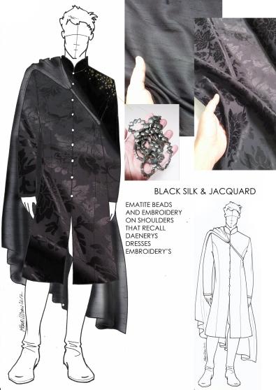 2 black silk